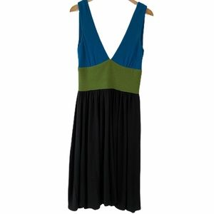 Melissa Masse Colorblock Sleeveless Dress